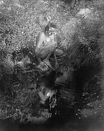 Crow Indian Reflective Pool Edward S. Curtis Photo Print