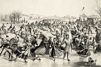 Currier & Ives Central Park Winter 'The Skaters Pond' Photo Print