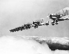 Curtiss P-6 Flying Formation Photo Print for Sale