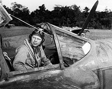 Dick Bong WWII Fighter Ace in P-38 Cockpit Photo Print for Sale
