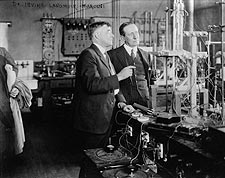 Dr. Irving Langmuir and Gugliemo Marconi Photo Print for Sale
