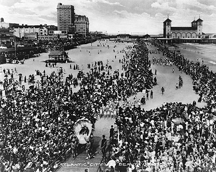 Early Beauty Pageant on Atlantic City Beach Photo Print