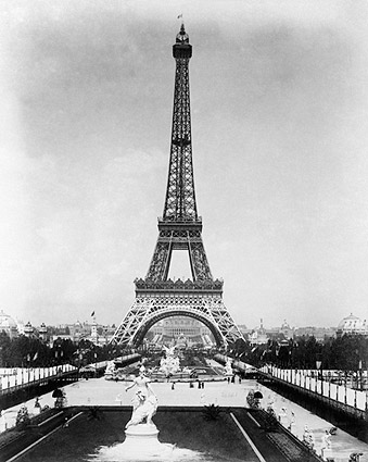 Eiffel Tower 1889 World's Fair Paris Exposition Photo Print