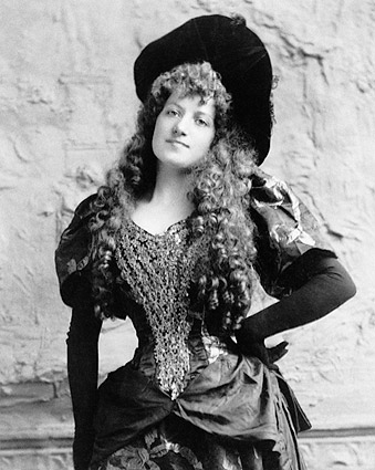 Entertainer Lottie Collins 1892 Portrait Photo Print