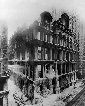 Equitable Building Fire Ruins New York City Photo Print