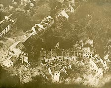 European Village Bombed in WWI Photo Print for Sale