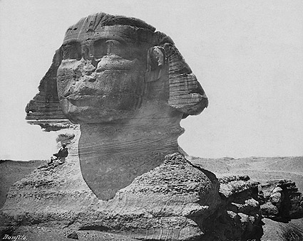 Explorer w/ The Sphinx of Giza, Egypt 1867 Photo Print