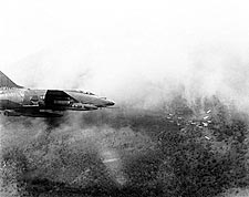 F-100 Super Sabre Aircraft Vietnam Attack Photo Print for Sale