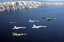 F-14, F-18 & MiG-21 Formation Photo Print for Sale