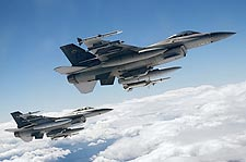 F-16 Fighting Falcons in Flight Photo Print for Sale