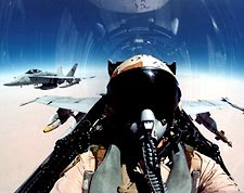 F/A-18 View of Pilot in Cockpit F-18 Photo Print for Sale