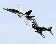 F/A-18F Super Hornet & FG-1D Corsair Planes Photo Print for Sale