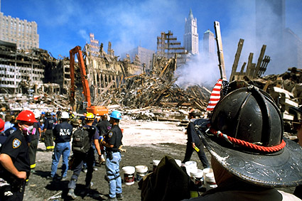 FDNY and NYPD at Ground Zero After 9/11 Photo Print