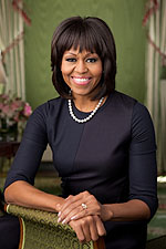 First Lady Michelle Obama Official White House Portrait Photo Print for Sale