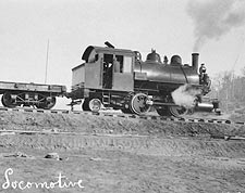 First Locomotive of Alaska U.S. Railroad Photo Print for Sale