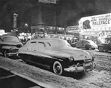 First Snow of Year Times Square NYC 1948 Photo Print for Sale