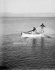 Fishermen on the Sea of Galilee 1939 Photo Print for Sale