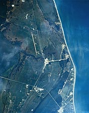Florida Kennedy Space Center From Space Photo Print for Sale