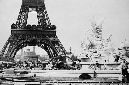Fountain St. Vidal Eiffel Tower Paris 1887 Photo Print