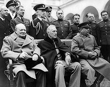 Franklin Roosevelt, Churchill & Stalin Photo Print for Sale