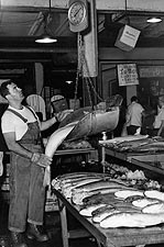 Fulton Fish Market in New York City 1963 Photo Print for Sale