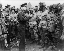 General Dwight Eisenhower with Troops WWII Photo Print