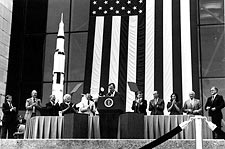 George H.W. Bush & Apollo 11 Astronauts Photo Print for Sale