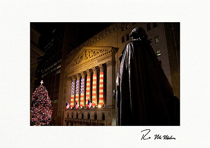 George Washington Patriotic Wall Street Boxed Christmas Cards