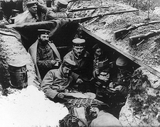 German WWI Soldiers in Trenches Photo Print