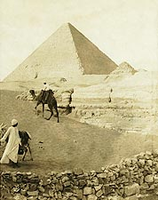 Great Pyramid of Giza in Egypt 1913 Photo Print for Sale