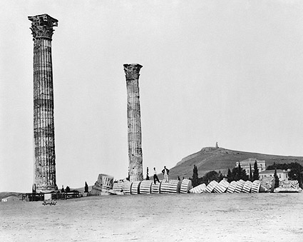 Greek Temple of Olympian Zeus Columns Photo Print