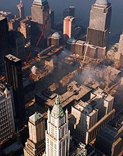Ground Zero Aerial View 9/11 Photo Print for Sale