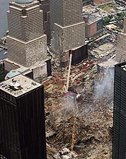 Ground Zero Cleanup Aerial View 9/11 Photo Print for Sale