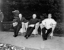 Harry Truman w/ Attlee & Stalin WWII Photo Print for Sale