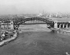 Hell Gate Bridge over East River, New York Photo Print for Sale