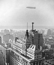 Hindenburg & New York Times Building 1936 Photo Print for Sale
