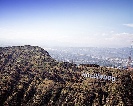 Hollywood Sign Overlooking Los Angeles, CA Photo Print