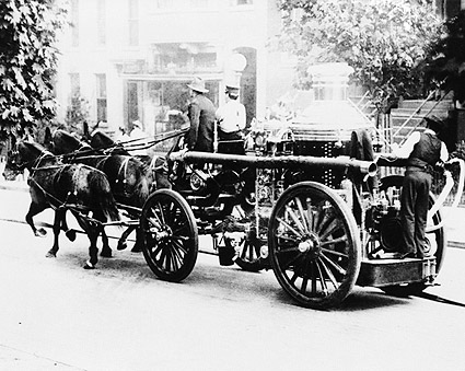 Horse Drawn Antique Fire Engine Wash., DC Photo Print