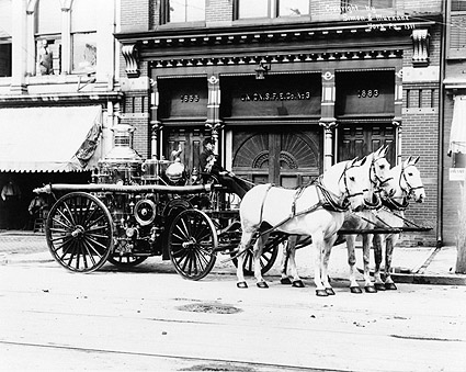 Horse Drawn Antique Fire Engine York, PA  Photo Print
