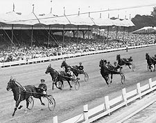 Horse Harness Racing at Hambletonian Stakes Photo Print for Sale