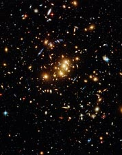 Hubble Space Telescope Galaxy Cluster Photo Print for Sale