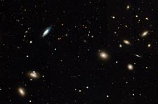 Hubble Telescope Coma Cluster of Galaxies Photo Print for Sale