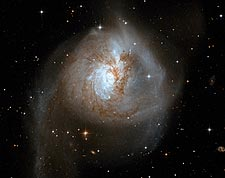 Interacting Galaxy NGC 3256 Hubble Space Telescope Photo Print for Sale