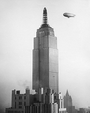 J-4 Navy Blimp & Empire State Building, NYC Photo Print