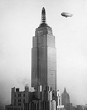 J-4 Navy Blimp & Empire State Building, NYC Photo Print for Sale