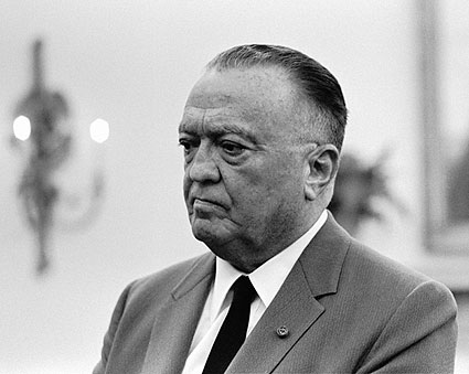 J Edgar Hoover in White House Meeting Photo Print