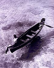 Jamaica Model on Boat Toni Frissell 1946 Photo Print for Sale