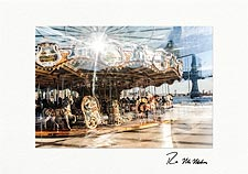 Jane's Carousel DUMBO Brooklyn Personalized NYC Christmas Cards