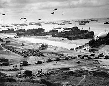 Landing Ships Unload Supplies at Omaha Beach WWII Photo Print for Sale