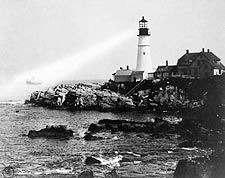 Portland Head Light Lighthouse in Maine 1917 Photo Print for Sale